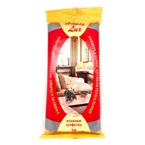 """''Haus Lux"""" Universālās attīrošās mitrās salvetes ar antibakteriālu efektu 30 salvetes"""