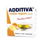 ADDITIVA® Karstais ingvers + Apelsīns C vitamīns + Cinks + D3 vitamīns karstais dzēriens paciņās N10