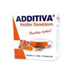ADDITIVA® Karstais smiltsērkšķis C vitamīns + Cinks + D3 vitamīns karstais dzēriens paciņās N10