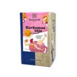 Sonnentor Kurkumas tēja ar rožu un plūškoka ziediem paciņās N18