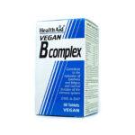 HealthAid® Vegan B Complex tabletes N60